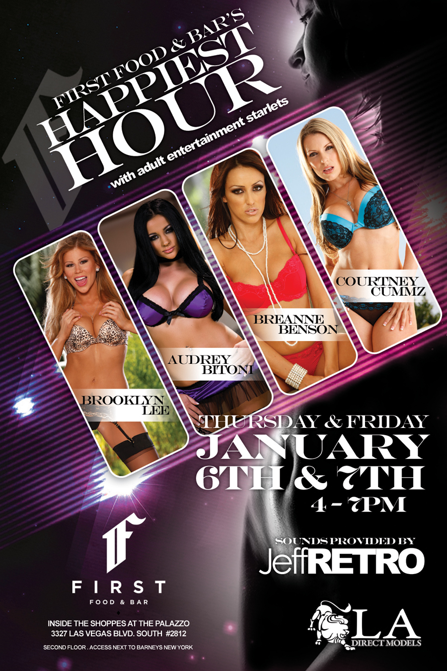 HappiestHourWeb FIRST Food & Bar along with LA Direct Models and adult film stars Audrey ...
