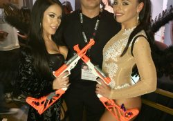 Megan Rain with Adriana Chechik and Derek Hay from LA Direct Models
